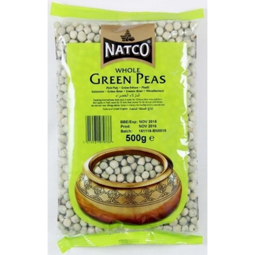 Natco Green Peas Whole 500g