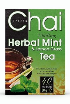 Picture of Chai Xpress Chai Xpress Herbal Mint And Lemon Grass Tea 80g