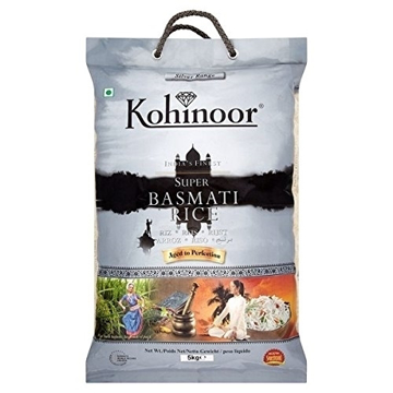 Kohinoor Silver Range India's Finest Super Basmati Rice 5Kg