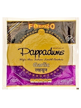 Fudco Garlic Papadum 200g