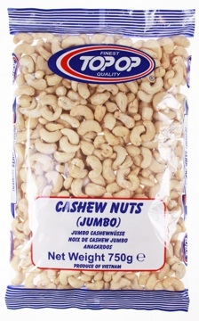 Top Op Cashew Nuts Whole 750g