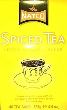 Natco Spiced Tea Lemon and Ginger Blend 40 Bags