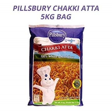 Pilsbury Chakki Atta 100% Whole Wheat Flour 5Kg