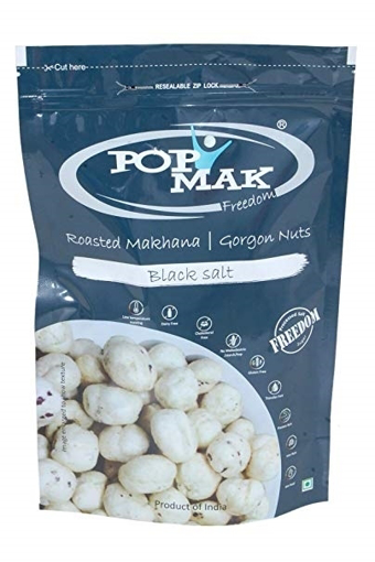 Pop Mak Roasted Makhana Black salt 80g