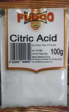 Fudco Citric Acid 100g