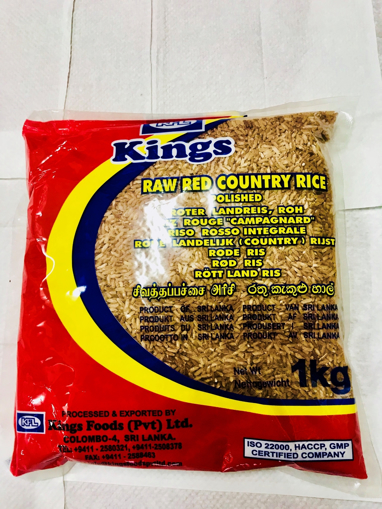 KFL Kings Raw Red country Rice Polished 5kg