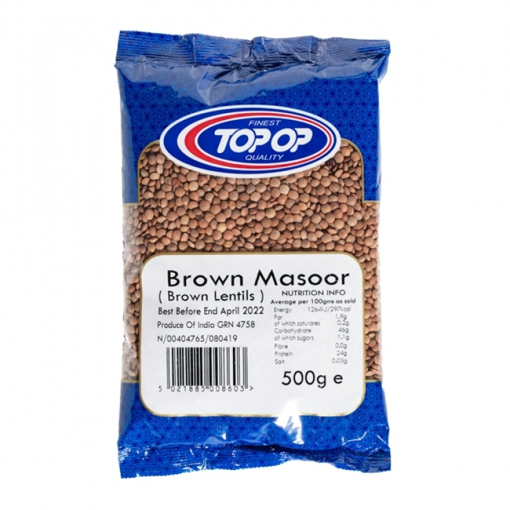 Top Op Brown Masoor (Lentils) 500g