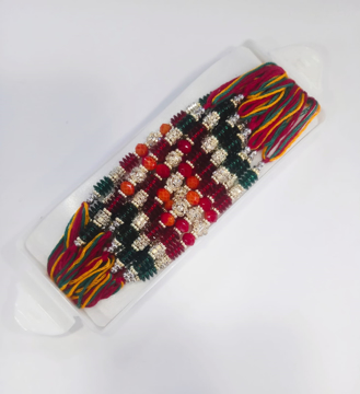 Fancy Multicolour Stone Dhaga Rakhi