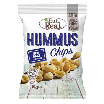 Eat Real Hummus Sea Salt Chips Gluten Free  45g