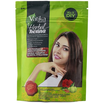 Vatika Herbal Henna With Sandalwood & Rose 200g