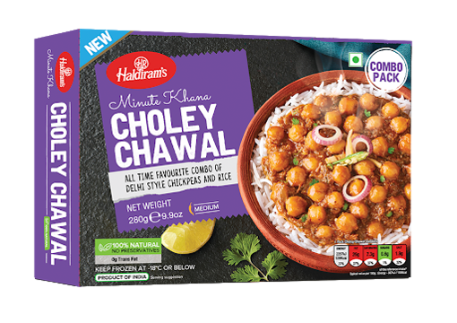Haldiram's Minute Khana Choley Chawal(Frozen) 280g