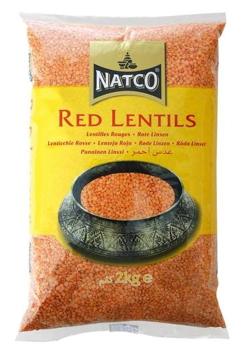 Natco Red Lentils Polished 2Kg