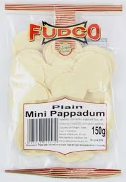 Fudco Plain Mini Pappadum 150g