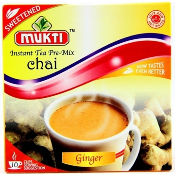 Mukti Instant Tea Pre-Mix Chai Ginger(Adrak) (sweetened) 220g