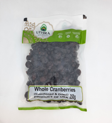 Uthra Whole Cranberries Sweetened & Dried 250g